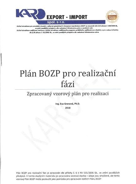 Plán BOZP pro realizaci
